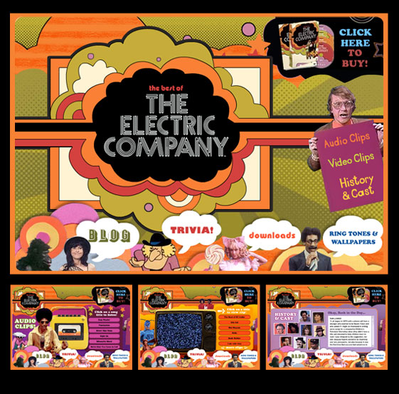 The Electric Company website: CLICK TO VIEW THE ARCHIVED VERSION
