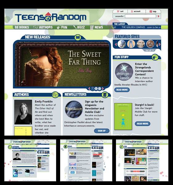 Random House : Teens At Random website