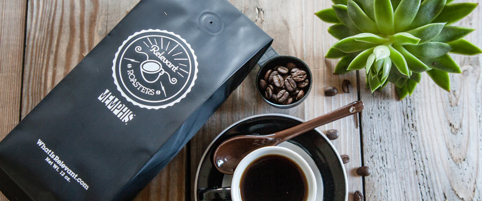 Relevant Roasters : Logo, branding, packaging design for craft coffee startup