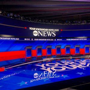 ABC News Democratic Debate, New Hampshire : screen design by K Brandon Bell