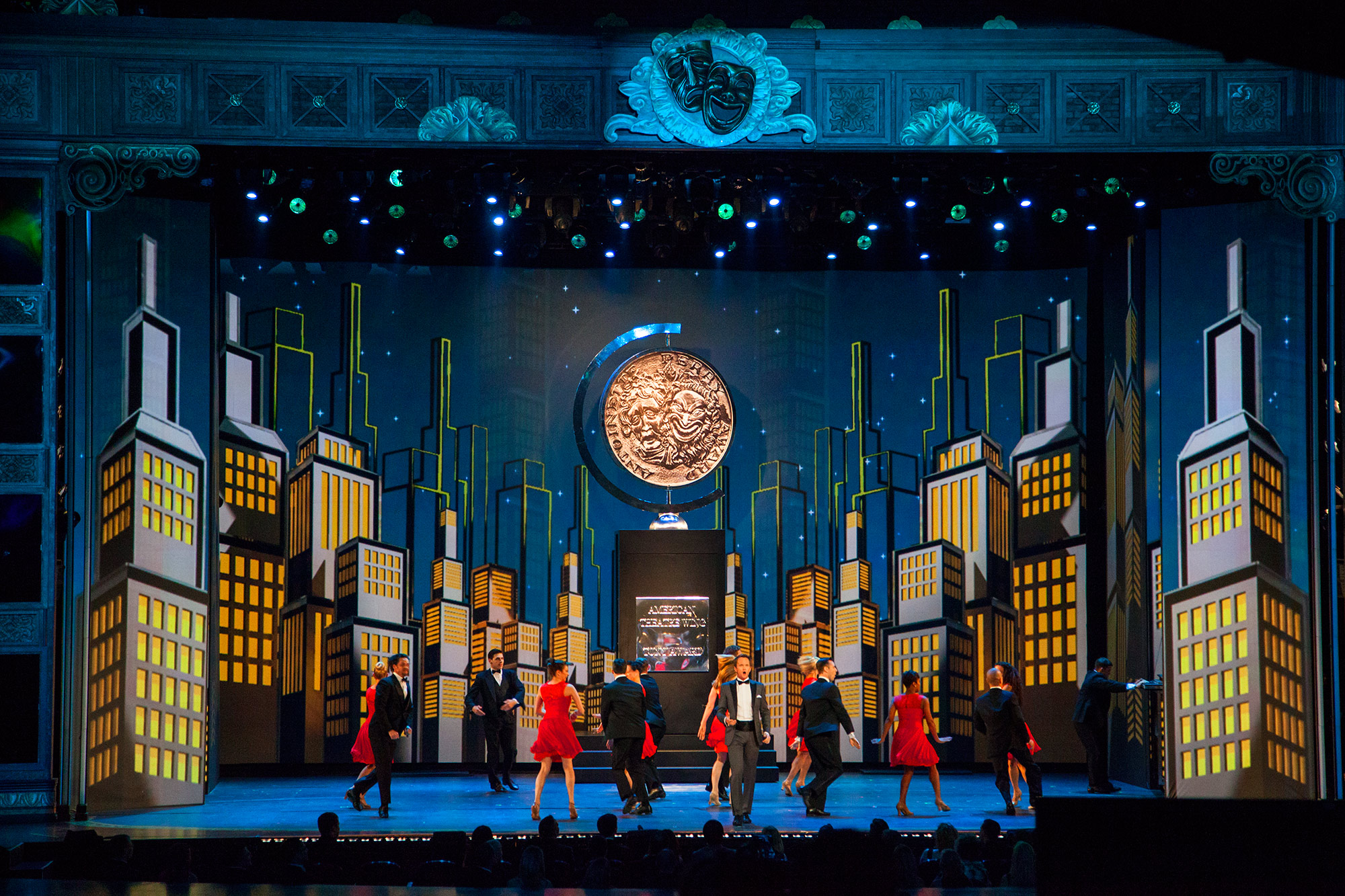 Screen design for the Tonys Show Open, 2014 : by K Brandon Bell