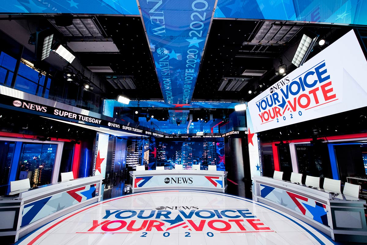 ABC News: Super Tuesday - set screen design by K Brandon Bell