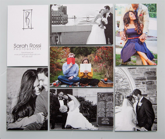 Sarah Rossi business card designs