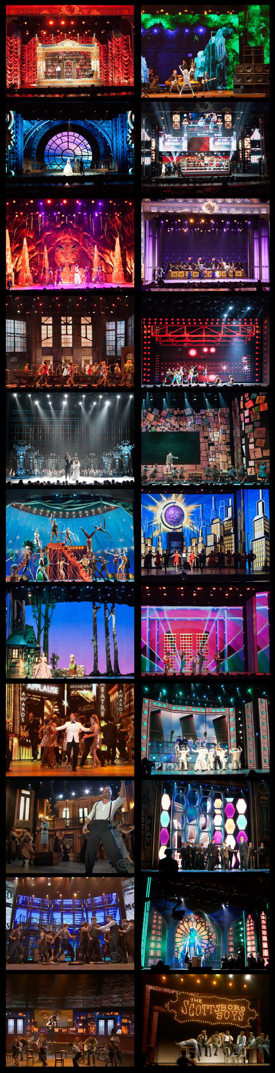 Digital sets for the Tony Awards, 2011-2015