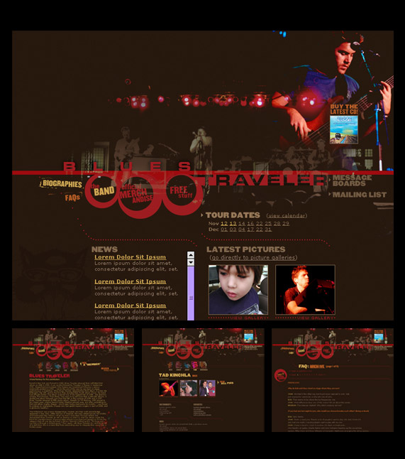 Blues Traveler website design
