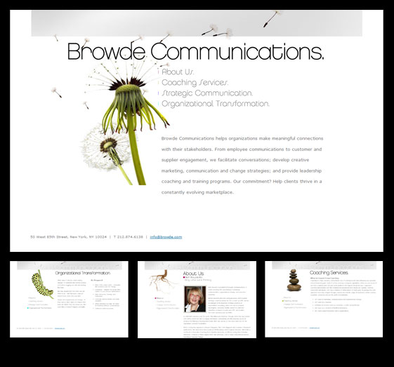 Browde Communications HTML website