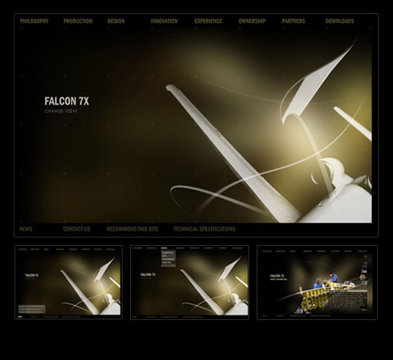 Dassault Falcon 7x Website design