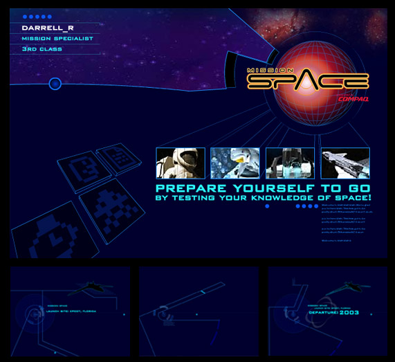 Mission Space Flash animation