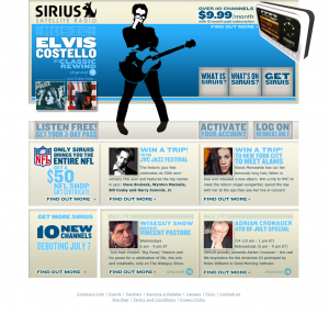 Sirius Radio layout