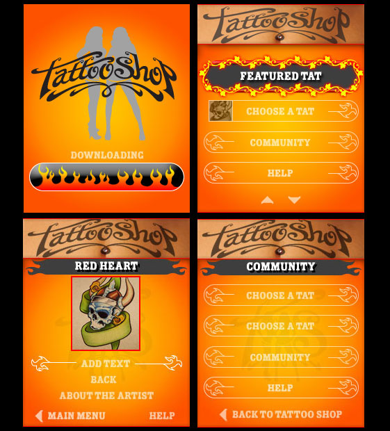 App design for tattoo shop
