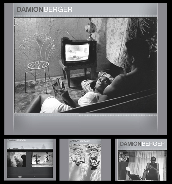 Website design and build for photographer Damion Berger