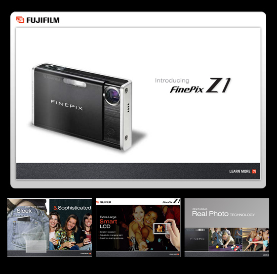 Fujifilm animated website design and development
