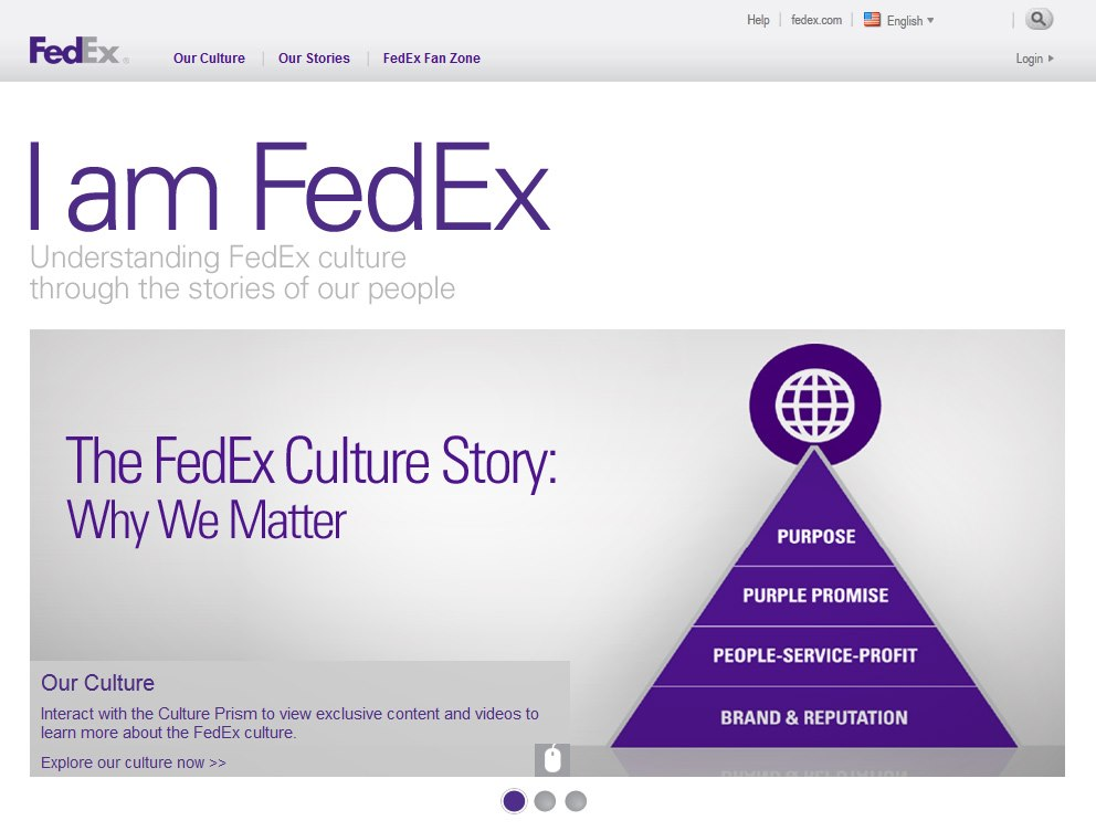 Web design for FedEx employees
