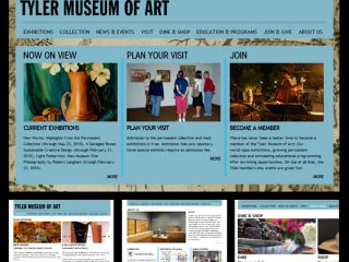 NEWS!: Tyler Museum Of Art : Website & Custom Admin System