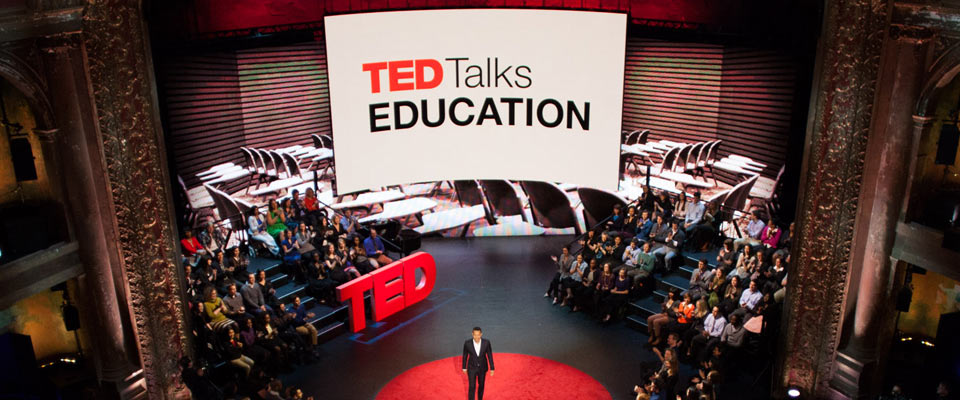TED Talks education screen designs