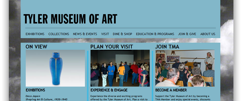 Tyler Museum Of Art : Website Design & Build with Custom Admin System