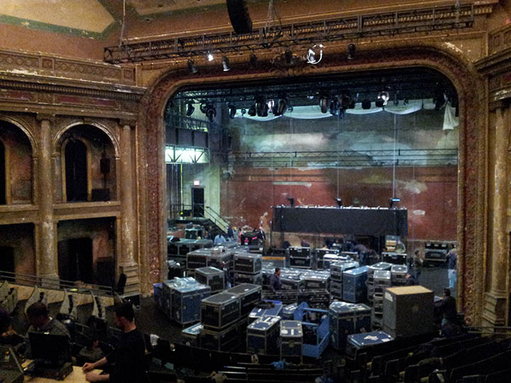 Set being built at Brooklyn's BAM Harvey Theater