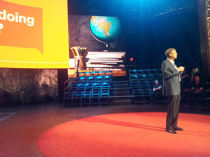 Bill Gates TED rehearsal