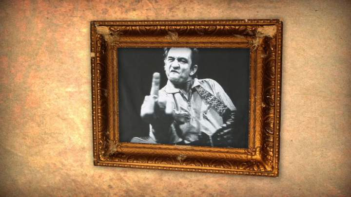 Johnny Cash animated video for the Memphis Music Hall of Fame