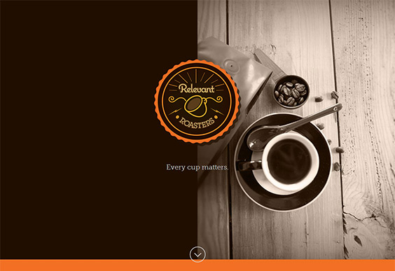 Logo, branding, packaging & WordPress web design & build for Relevant Roasters
