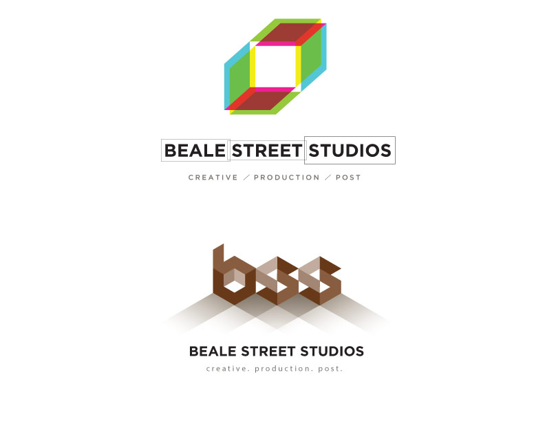Beale Street Studios - logo design development