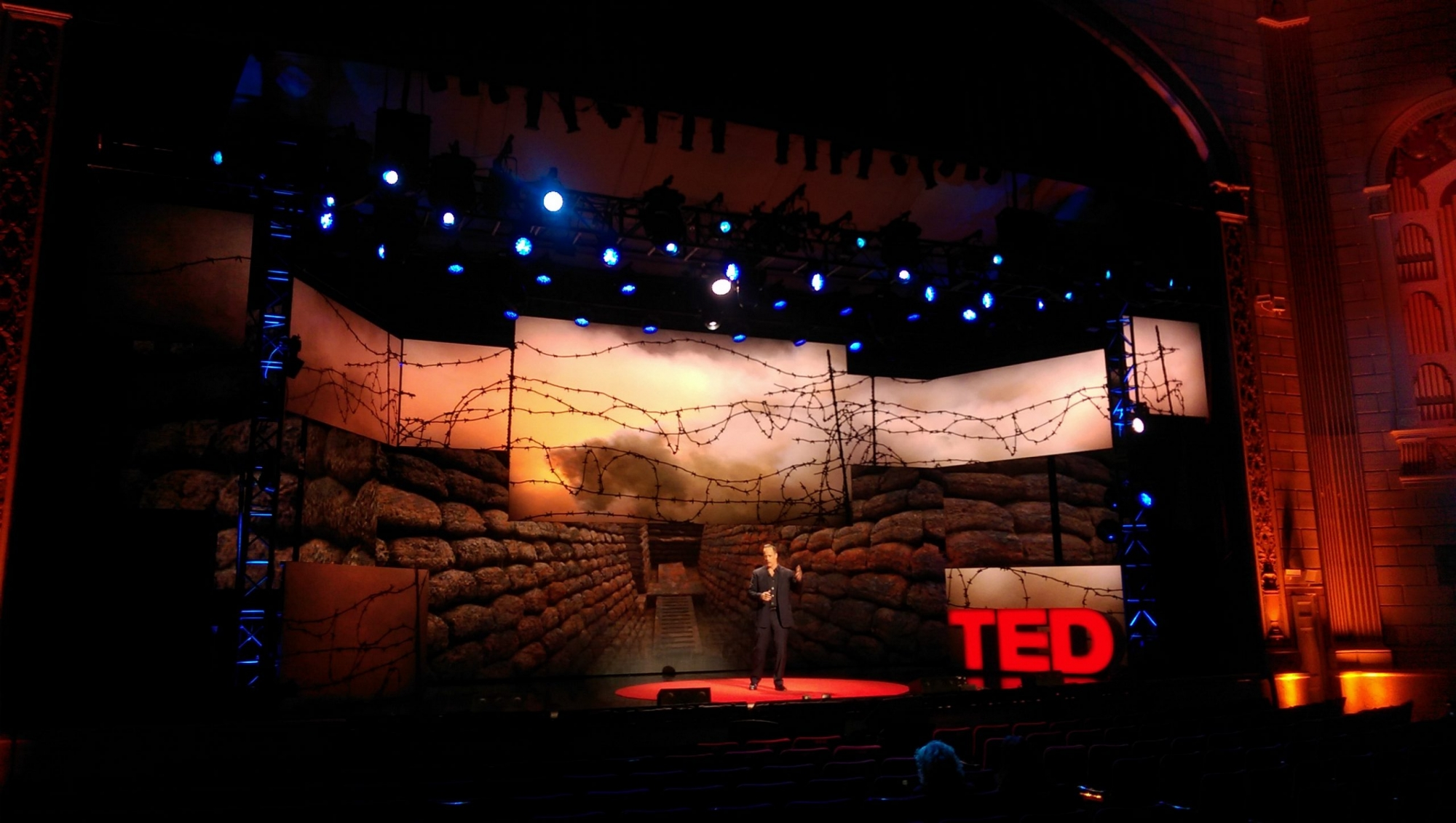 Screen stage screen graphics for TED Talks live by K brandon Bell