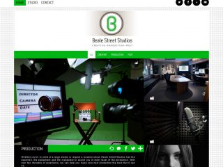 FROM THE ARCHIVE: Logo & website for Beale Street Studios