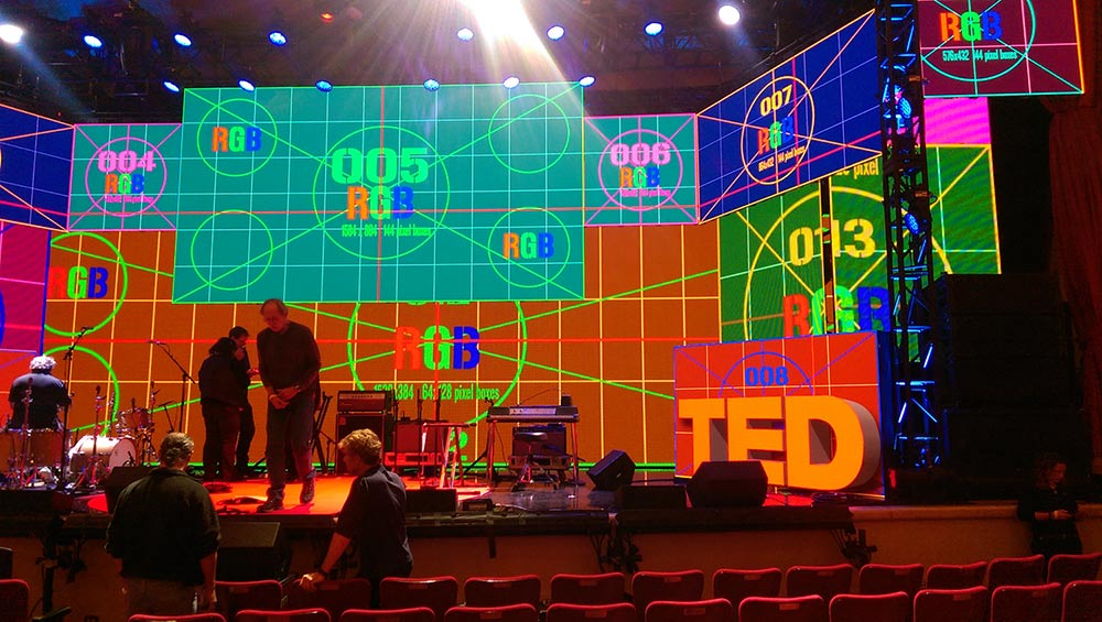 TED Live: Screens being set up