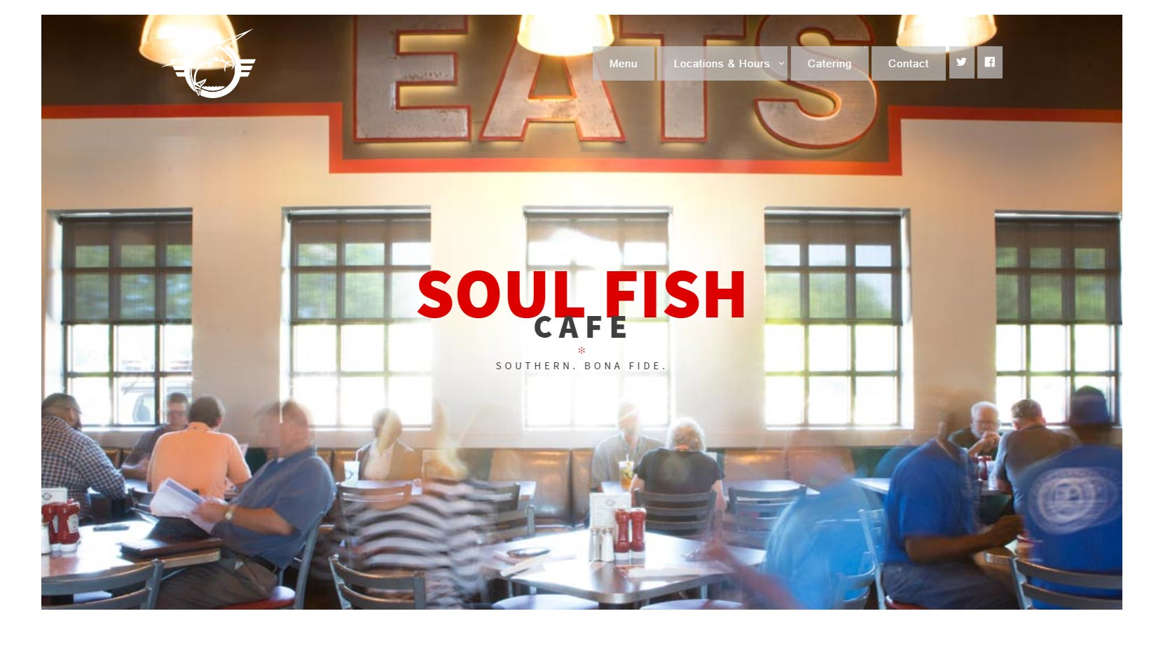 Soul Fish Cafe - responsive WordPress website