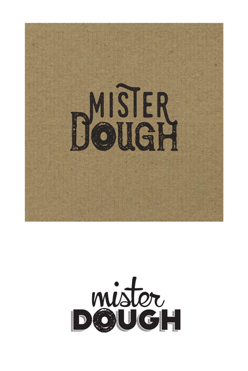 Naming design process for Mister Dough, donut shop