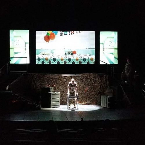 Projection design for Opera Memphis | by K Brandon Bell & University of Memphis Graphic Design students