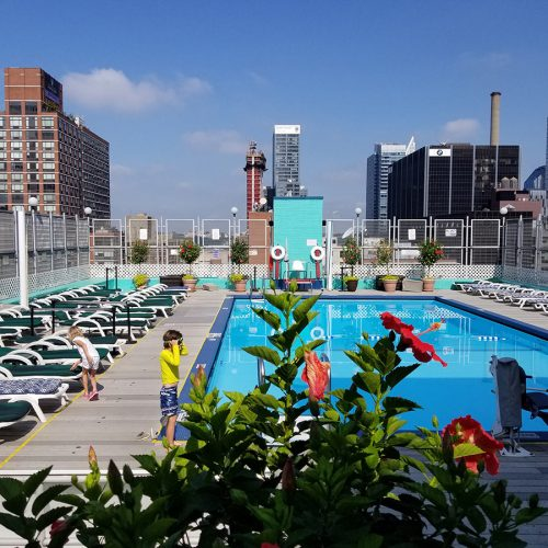 The rooftop pool at The Watson.