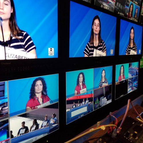 Multi-view monitors in thr broadcast truck