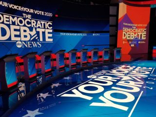 ABC News Democratic Debate : a gallery