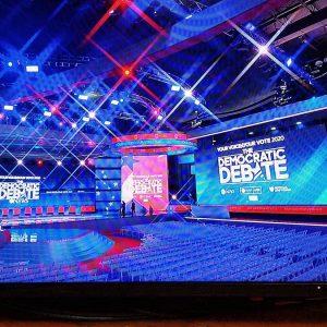 ABC News Democratic debate : screen design by K Brandon Bell