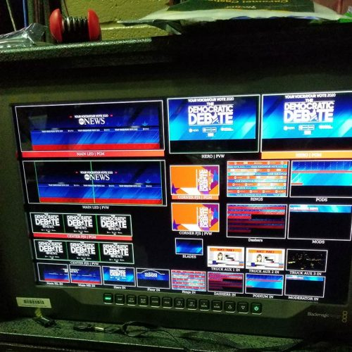 Backstage multi-view monitor