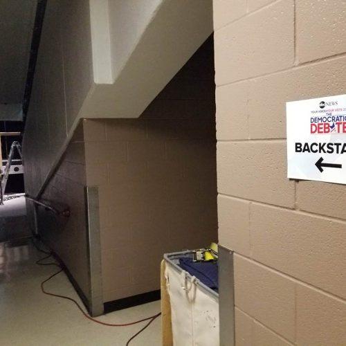 Backstage signage