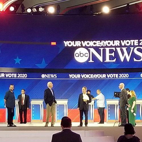 Vice Pres Joe Biden's walk-through, the afternoon of the debate