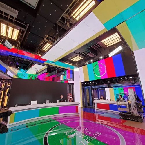 ABC TV3: screens with test patterns