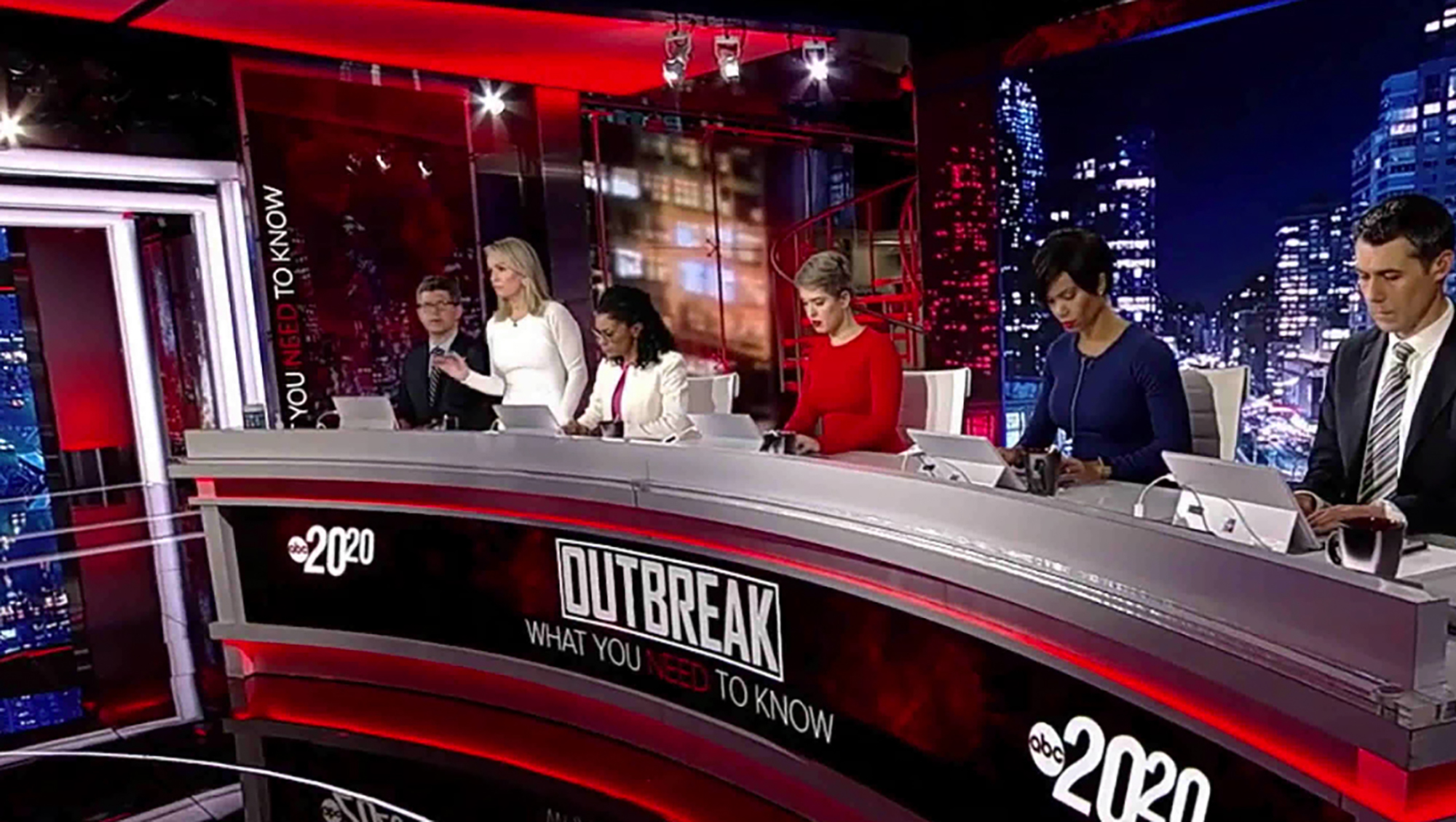 """20/20 - Outbreak: What You Need To Know"" ABC News - screen design by K Brandon Bell"