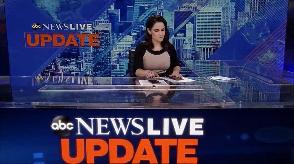 ABC News Live Update - set screen design by K Brandon Bell