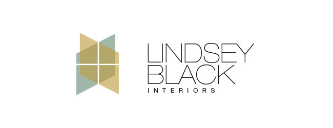 Lindsey Black Interiors : Logo design by K Brandon Bell