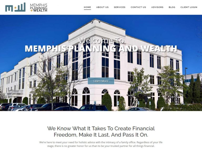 Memphis Planning & Wealth ; website design & branding