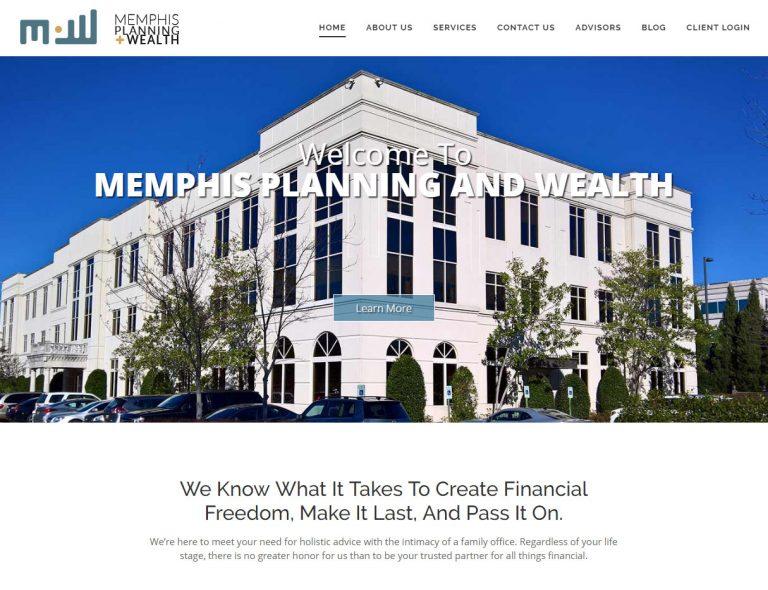 Memphis Planning & Wealth ; website design & branding