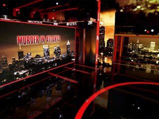 Murder in Atlanta: set screen design for 20/20 special