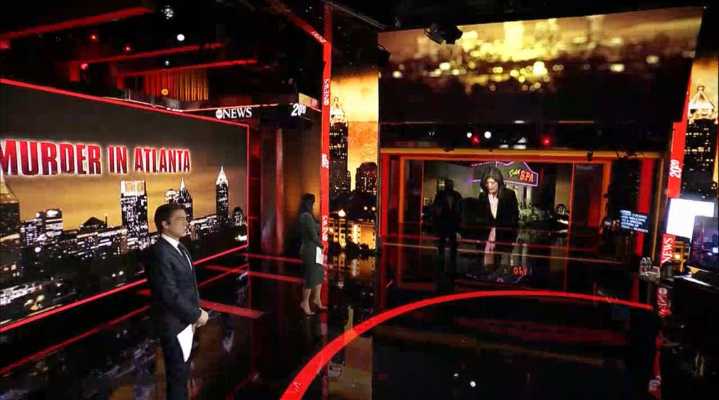 20/20 : Murder in Atlanta- set screen design by K Brandon Bell