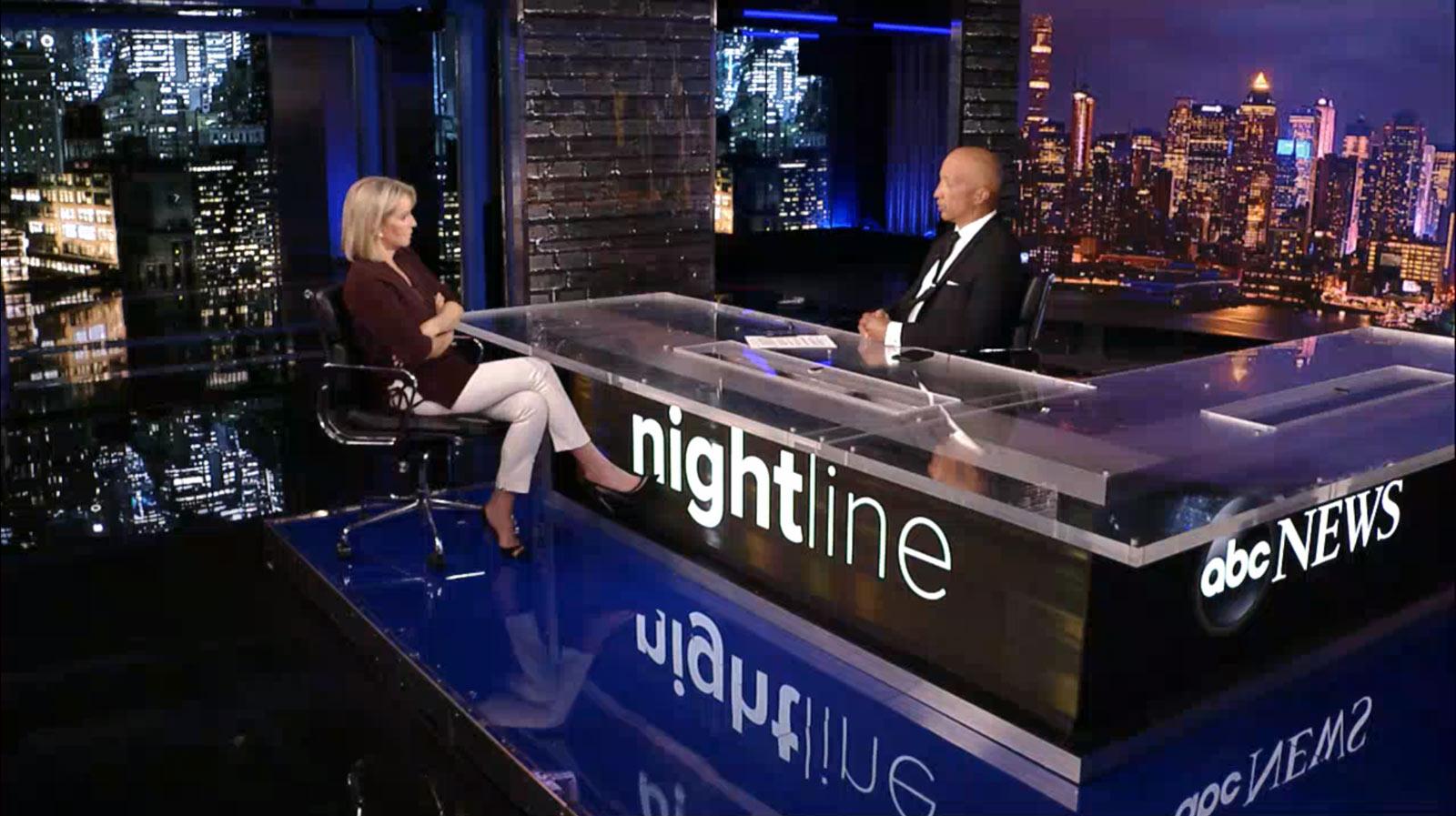 ABC News: Nightline - set screen design by K Brandon Bell