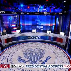 Biden's Presidential Address to Congress: set screen design for ABC News coverage