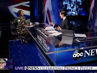 Celebrating Prince Philip: set screen design for an ABC News special report
