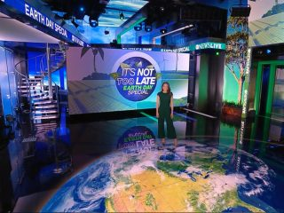 Earth Day special: set screen design for ABC News Live
